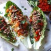 Gluten free Chinese crispy duck lettuce wraps with easy Singapore noodles