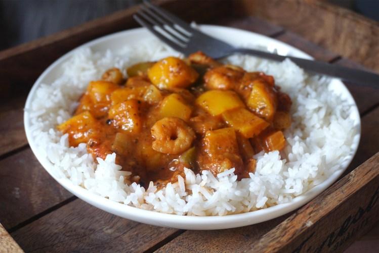 Cuban style prawn and mango stew   healthy gluten free recipe