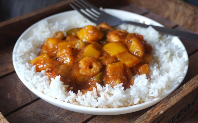 Cuban Style Prawn and Mango Stew