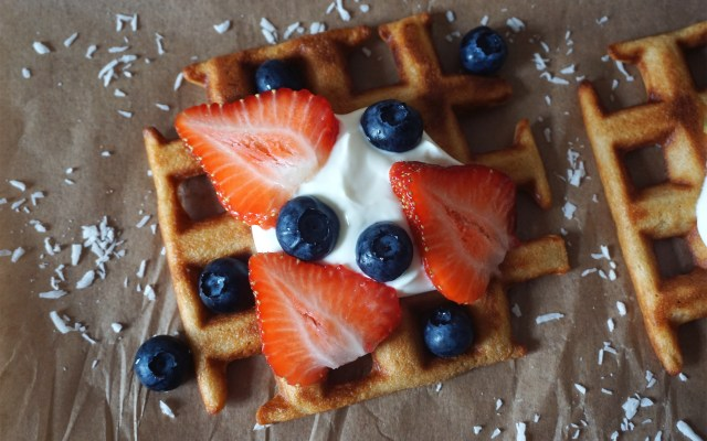 Low Carb Coconut Waffles {gluten free}