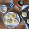 Baked gluten free crumpets with butter and honey