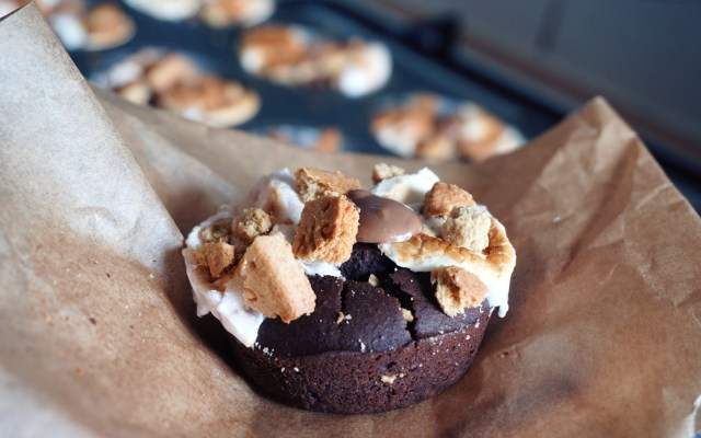 Gluten Free Black Bean Brownies with S'mores on Top {Healthy-ish}