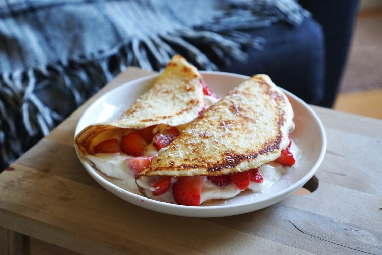 Gluten free low carb coconut crepes   low carb coconut pancakes   gluten free recipes