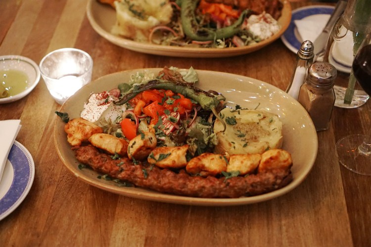 Gluten free Turkish chicken shish, kofte, salad, yoghurt and potatoes from Petek in Finsbury Park | North London | Stroud Green | Gluten free restaurants in London