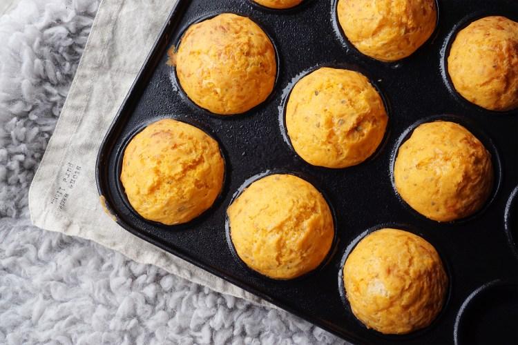 Gluten free mini cheese muffin rolls | gluten free recipes
