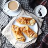 Gluten free cheese and bacon pastries made with Jus-Rol gluten free puff pastry | Featuring a mini H&M Home deer plate
