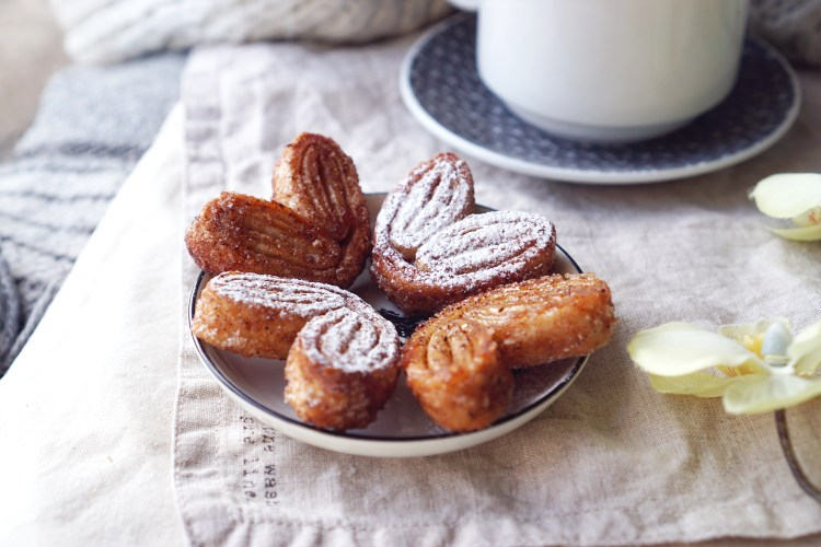 Gluten free cinnamon palmiers cookies made with jus-rol gluten free puff pastry