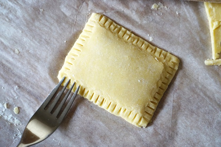 Gluten free shortcrust pastry recipe | gluten free pop tart (before baking)
