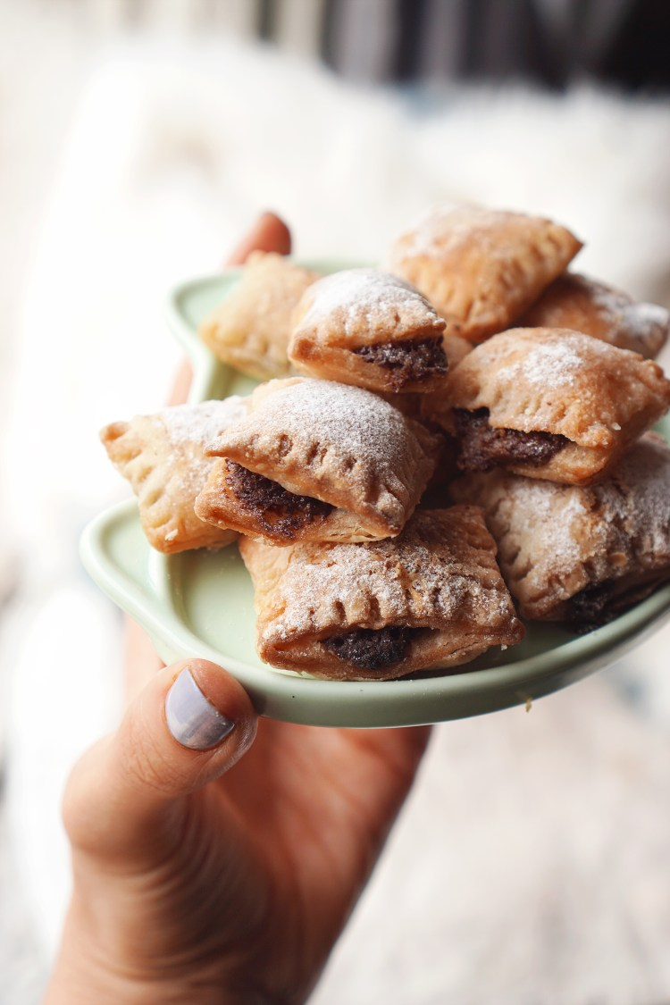 Nutella puff pastry bites made with Jus Rol gluten free puff pastry