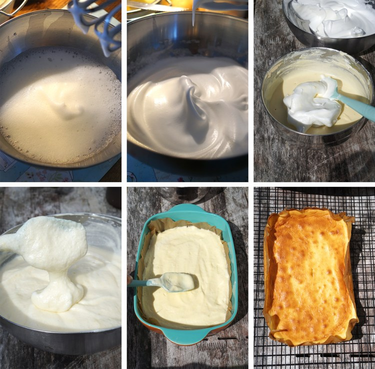 How to make soufflé cheesecake - step by step