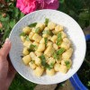 Gluten free / grain free gnocchi made with potato and fufu flour; served with garlic butter, parmesan and fresh basil