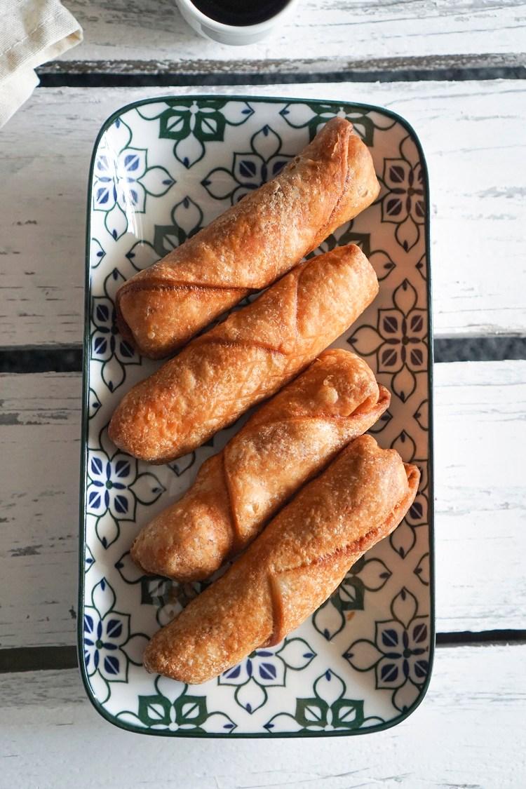 Proper crispy gluten free egg rolls / spring rolls made with jus rol gluten free puff pastry