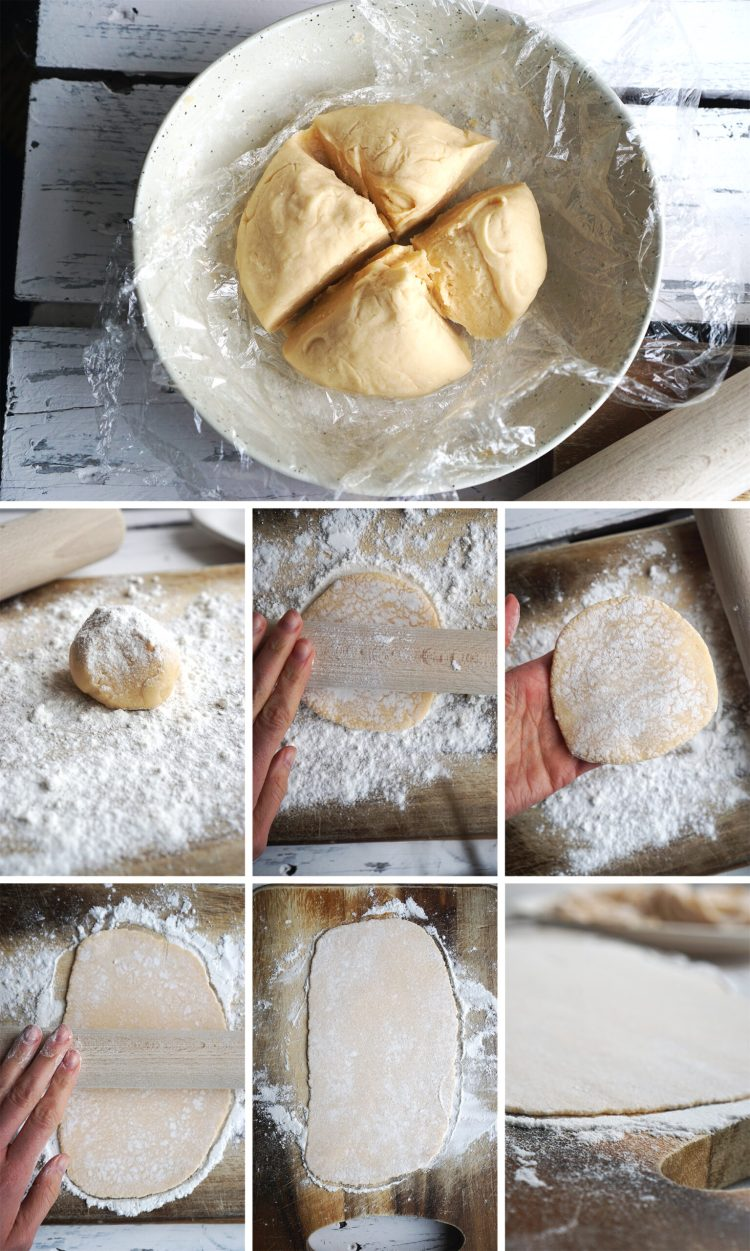 How to roll gluten free Chinese egg noodle dough - step by step tutorial