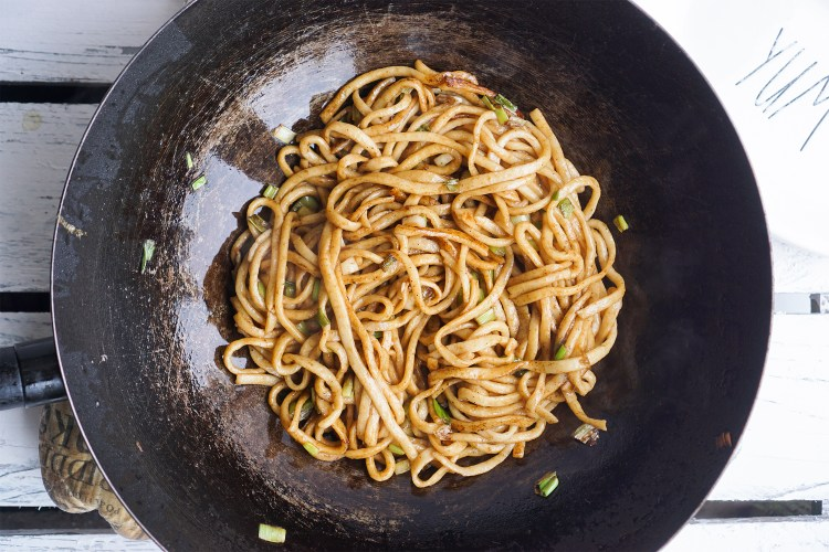 Quick gluten free chow mein noodles made from scratch