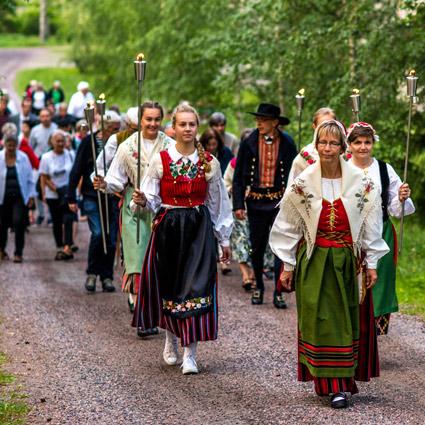 Soihtukulkue - Fackeltåget 2018
