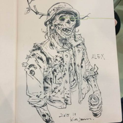 024 - Kim Jung Gi sketch dédicace