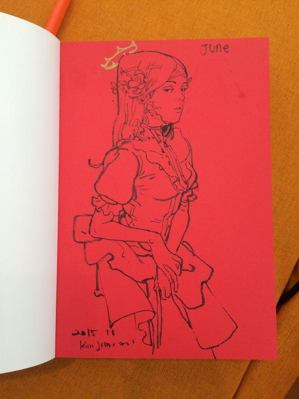 Kim Jung Gi sketch dédicace