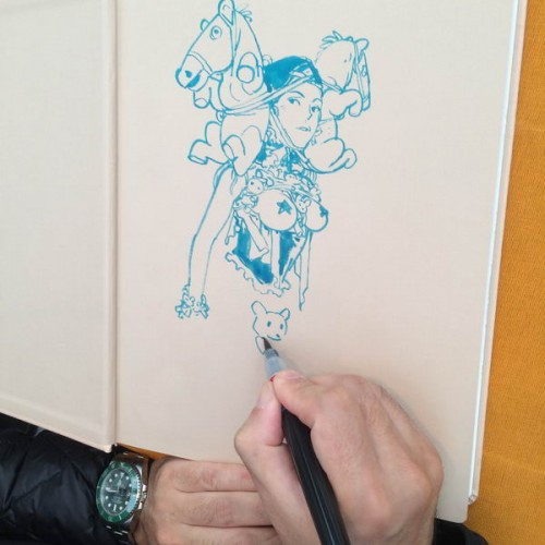 046 - Kim Jung Gi sketch dédicace