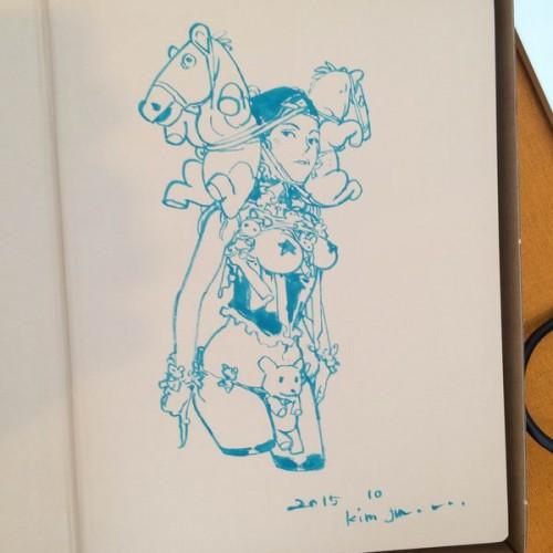 065 - Kim Jung Gi sketch dédicace