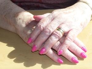 Photo of elderly woman's hands