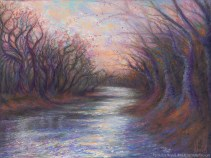 River Dancers, Original Painting of trees dancing on the banks of a river by Kim Novak. Copyright 2014 Kim Novak. All rights reserved.