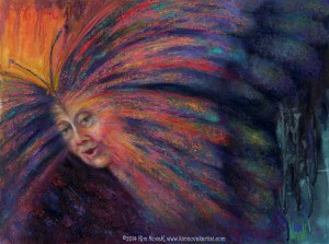 Original painting in pastel over watercolor underpainting by Kim Novak. ©2014 Kim Novak. All rights reserved.