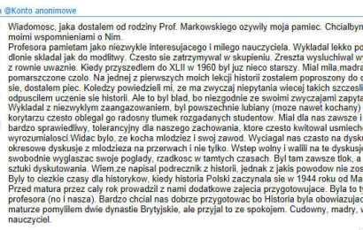Nauczyciel warszawskich liceów