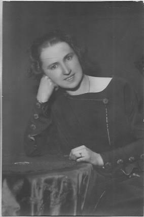 Wanda Polkowska Markowska z okresu pracy w gimnazjum Anny Wazówny w Warszawie