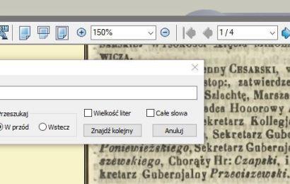 Poszukiwania genealogiczne w bibliotekach cyfrowych