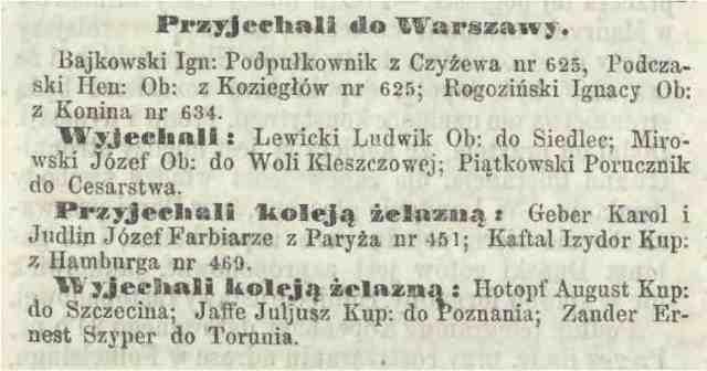 Mój przodek do Polski przyjechał z Paryża koleją żelazną