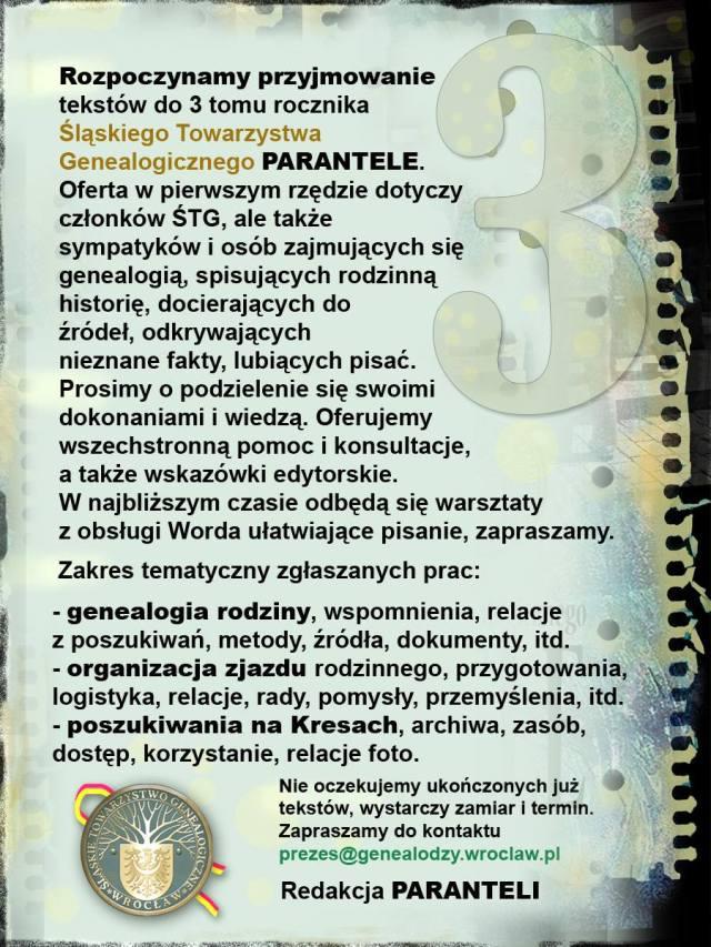 Parantele towarzystwa z Wrocławia nr 3