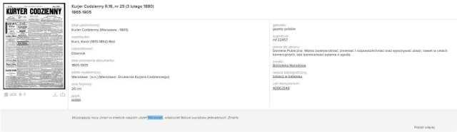 Polona - cyfrowa część Biblioteki Narodowej wynik wyszukania 1