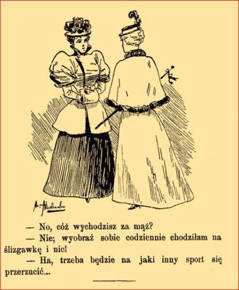 Wyprawa panny młodej na wesoło ślizgawka