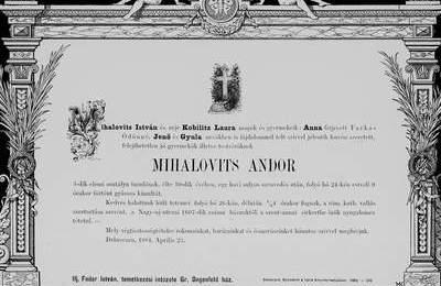 Nekrologi węgierskie z lat 1840-1990