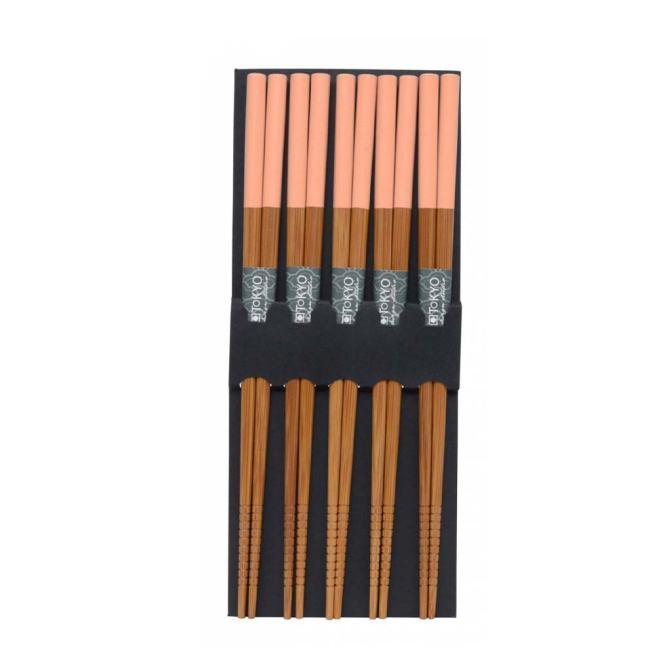 Ess-Stäbchen aus Bambus - Rosa