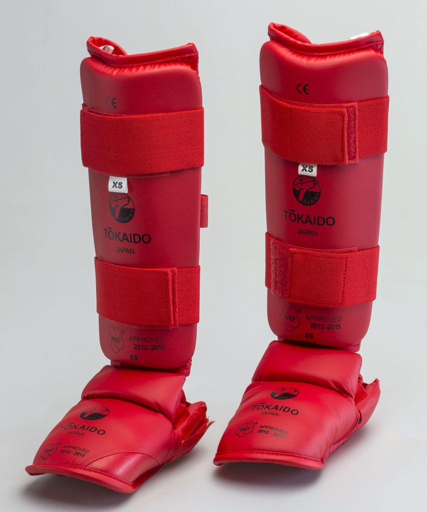 espinilleras completas tokaido rojas para adultos