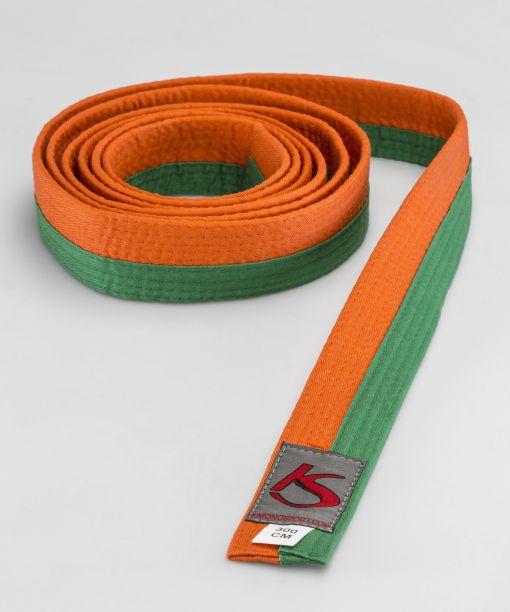 cinturón naranja - verde para artes marciales válido para la competición