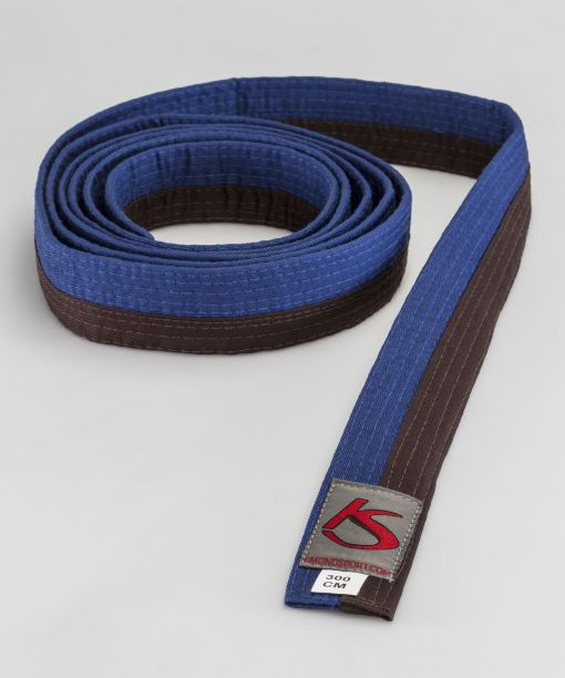 cinturón azul - negro para artes marciales válido para competir