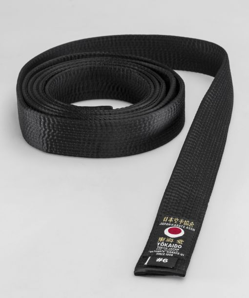 cinturón negro de seda tokaido jka con tela artificial