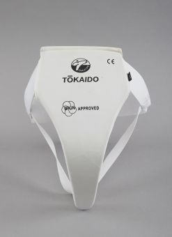 FEMALE KARATE GROIN GUARD, TOKAIDO, WKF APPROVED, WHITE 1