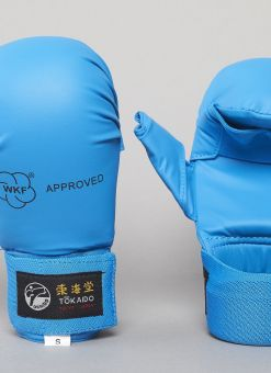 KARATE GLOVES, TOKAIDO, WKF, THUMB PROTECTION, BLUE 1