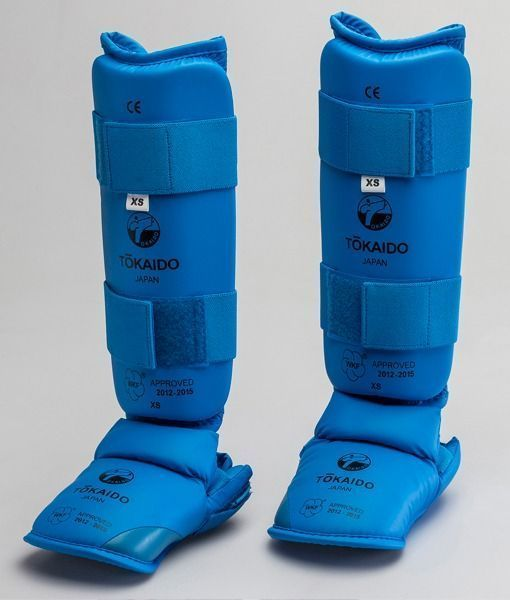 KARATE SHIN/FOOT GUARD, TOKAIDO, WKF APPROVED, BLUE 1