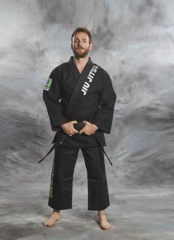 jiu - jitsu gi brasileño negro de 2 piezas
