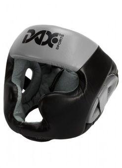 casco sparring de cuero DAX - negro