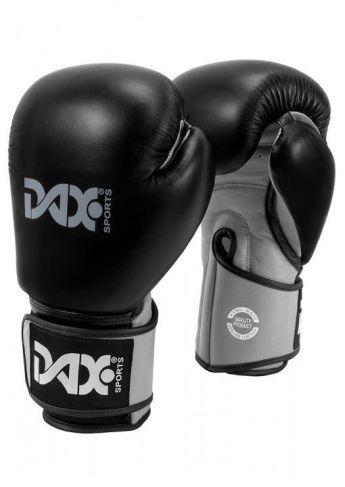 guantes de boxeo protección muñeca de cuero de color negro y gris