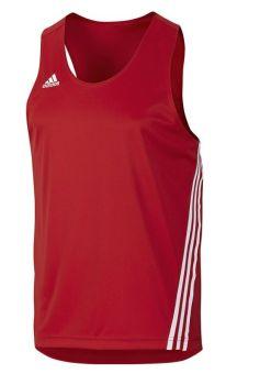 camiseta adidas sin mangas de color rojo