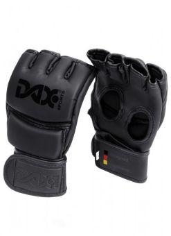 guantes de mma negros dax con velcro