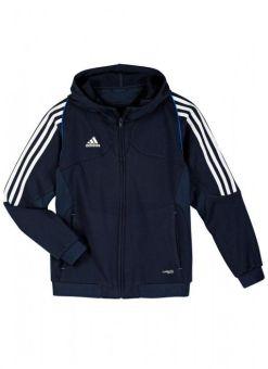 sudadera con capucha adidas t12 azul para niño