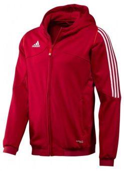 sudadera con capucha adidas t12 roja para hombre