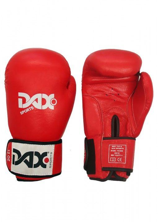 guantes de boxeo DAX tt de cuero - rojos